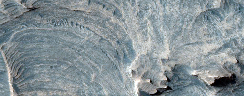 Faulting within the Layered Deposits in Candor Chasma