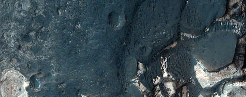 Fan Surfaces in West Holden Crater