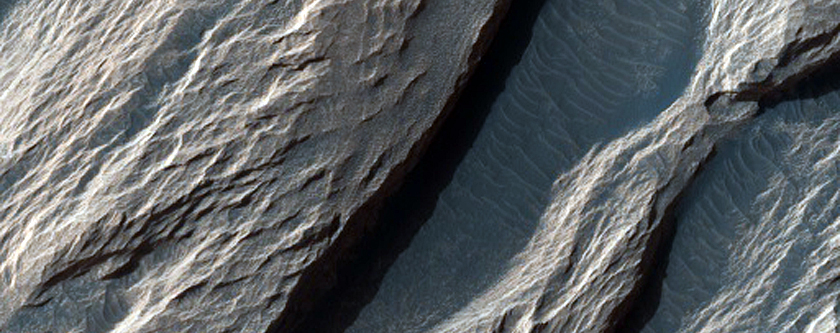 White Rock Feature in Pollack Crater