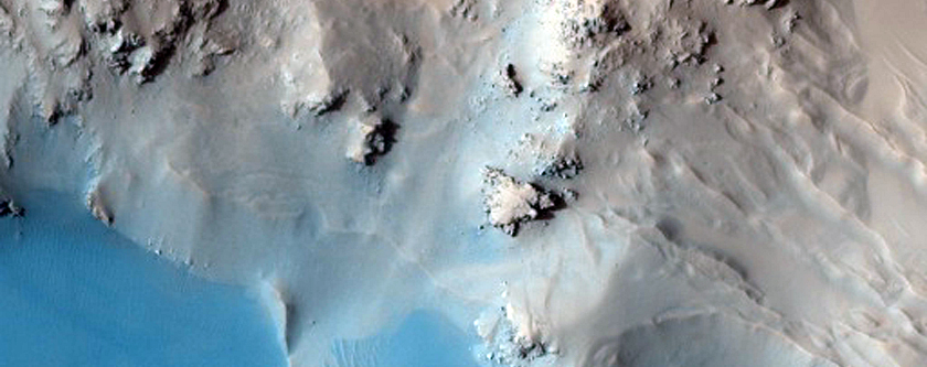 Mojave Crater Floor and Central Uplift