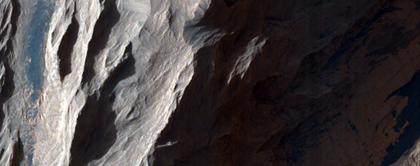 Faulting in Layered Bedrock Exposed in Candor Chasma