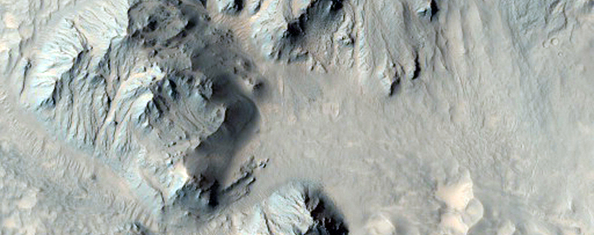 Dissected Wall of Mojave Crater
