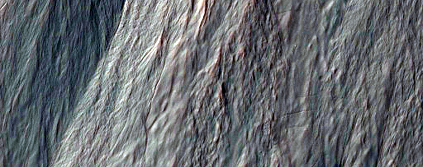 Gullies with Inner Channels, As Seen in MOC Image S12-00190