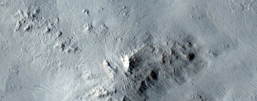 Continuous Ejecta Blanket of the Zunil Crater