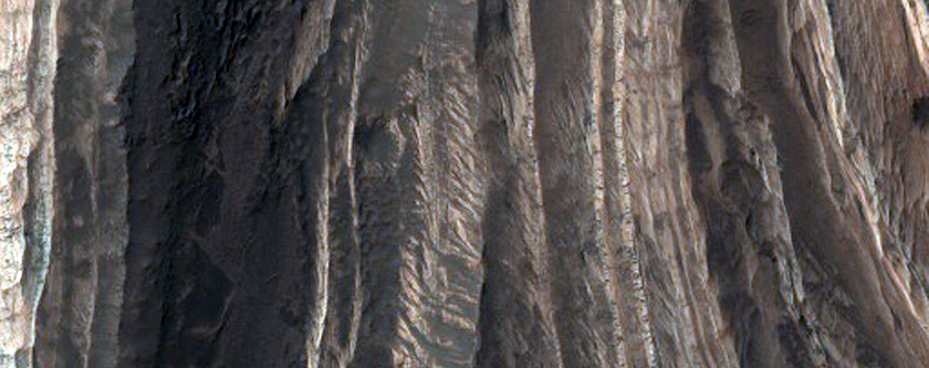 Layers in Terby Crater