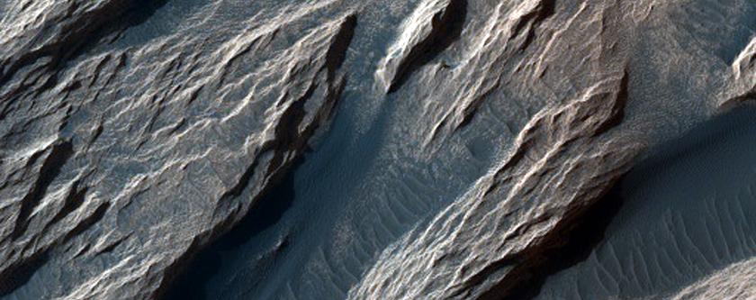 White Rock Landform in Pollack Crater