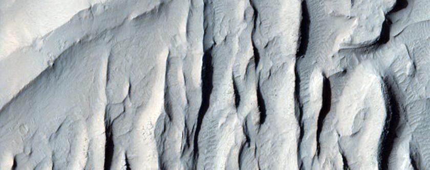 Sinuous Ridges Near Aeolis Mensae