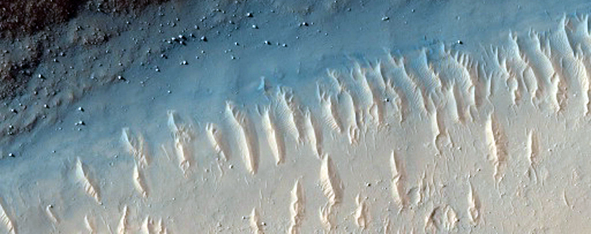 Graben in Memnonia Fossae