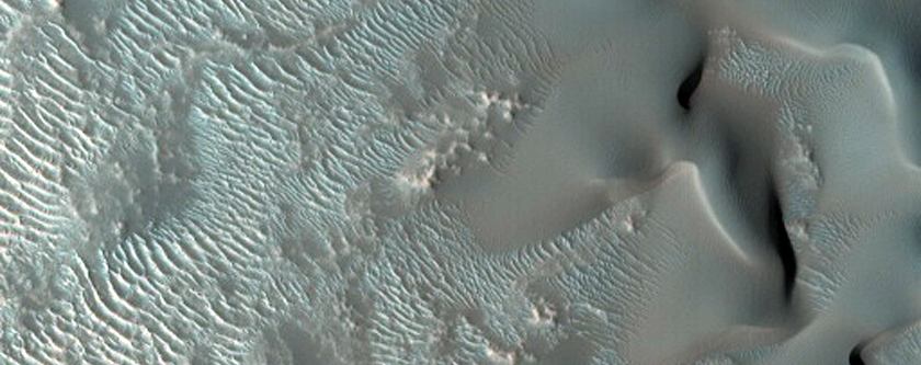 Talus/Mass Movement Features Seen in MOC Images S20-00058 and S14-02193