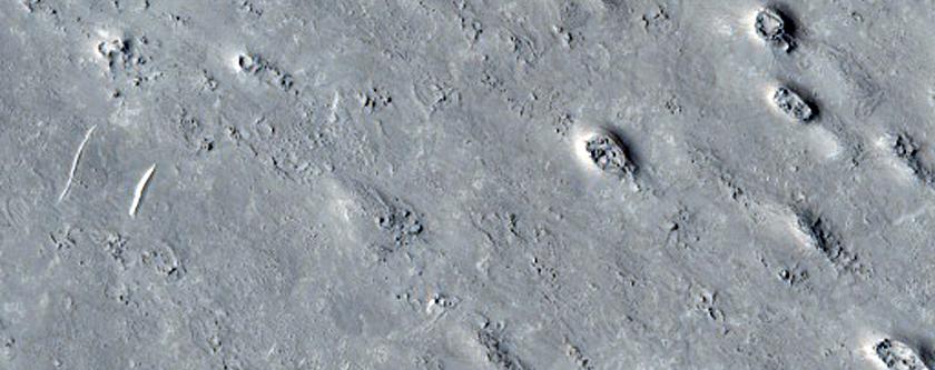Ring and Cone Structures in Elysium Planitia, North of Aeolis Planum