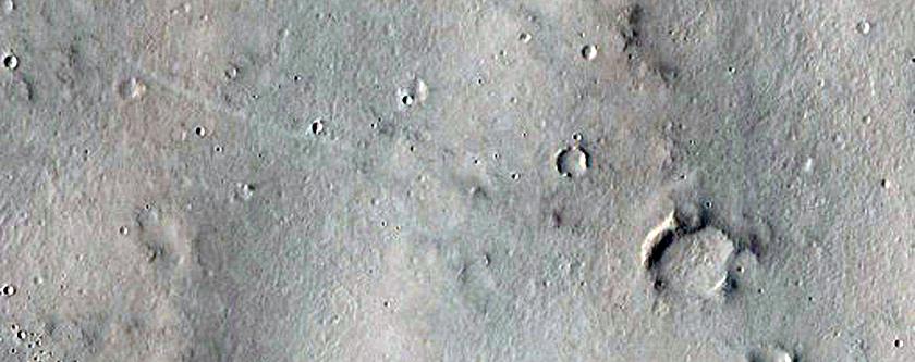 Possible MSL Rover Landing Site in Southwest Arabia Terra