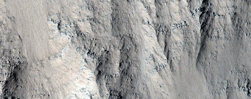 Layers Exposed on Slope in Echus Chasma Region