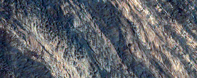 Possible MSL Rover Landing Site; Terby Crater