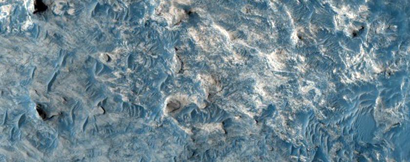 Dark-Toned Unit Exposed atop Crater Ejecta in Meridiani Planum