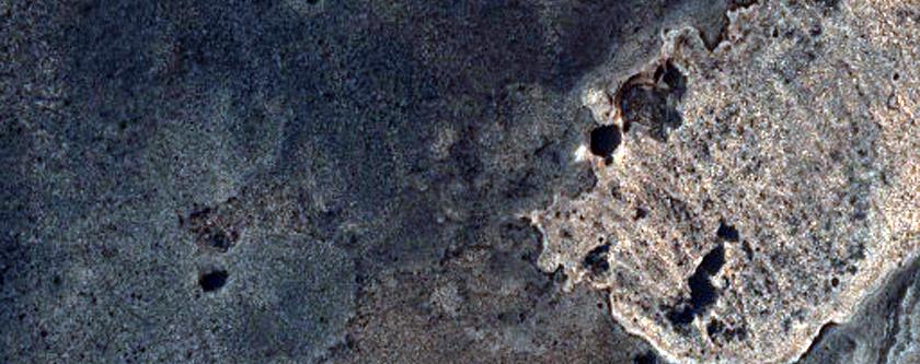 MSL Landing Site in Melas Chasma