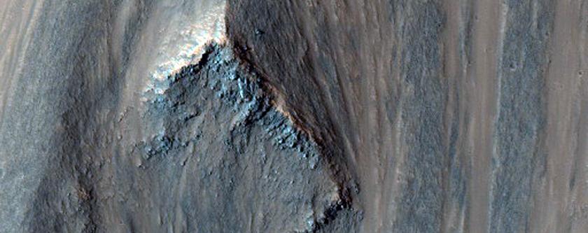 Landslide in Capri Chasma