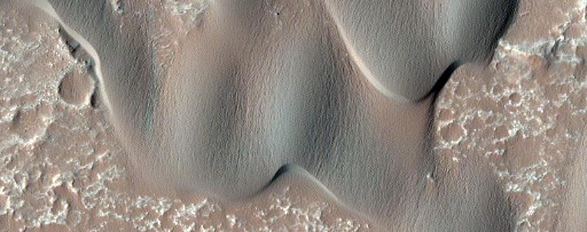 Dark Dunes in Herschel Crater