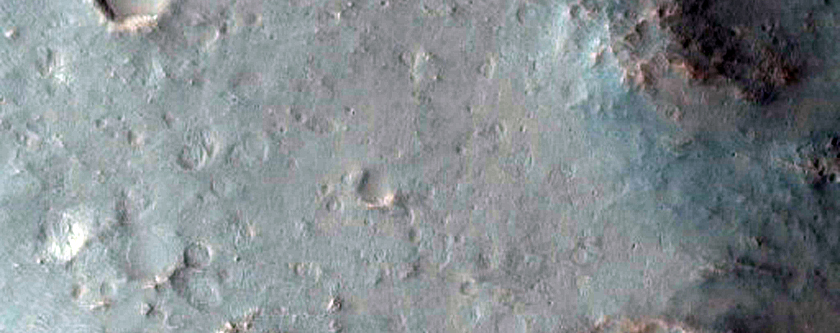 Tyrhenna Terra Crater Rim with Hydrated Minerals