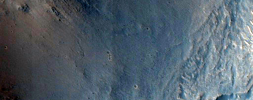 Layered Region in Gale Crater