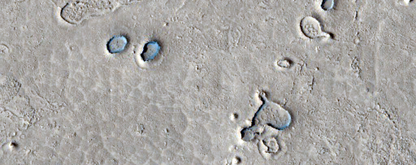 Ring and Cone Structures Plus Dunes an Other Landforms in Athabasca Valles