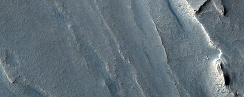 Layers in Spallanzani Crater