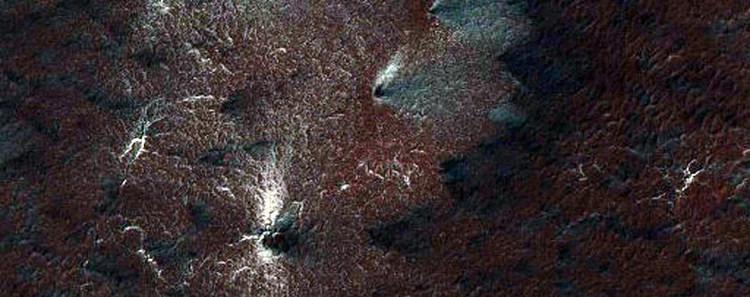 South Polar Landforms - Spider Cracks