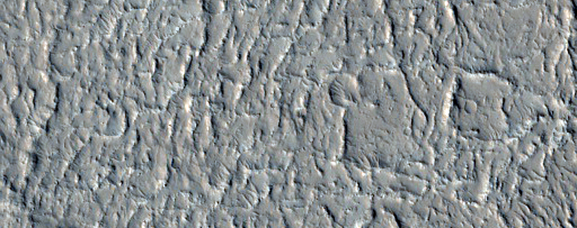 Faulted Lava Flow in Amazonis Planitia