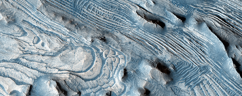 Faults and Folds in Western Candor Chasma