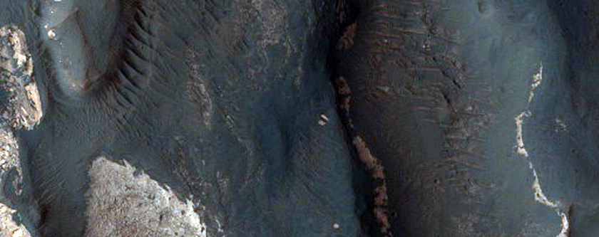 Fan Delta and Layers in Holden Crater