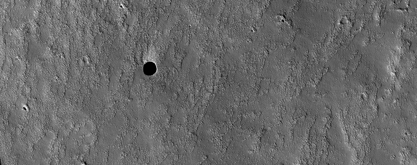 Candidate Cavern Entrance Northeast of Arsia Mons
