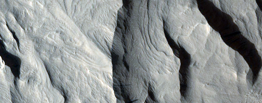 Layered Mound in a Crater