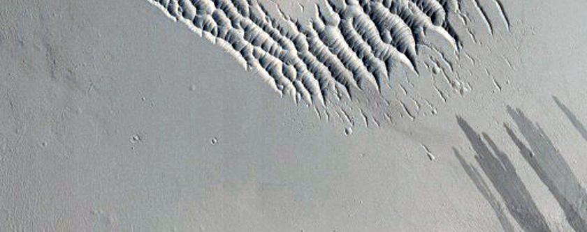 Slope Streaks in Terra Sabaea South of Janssen Crater