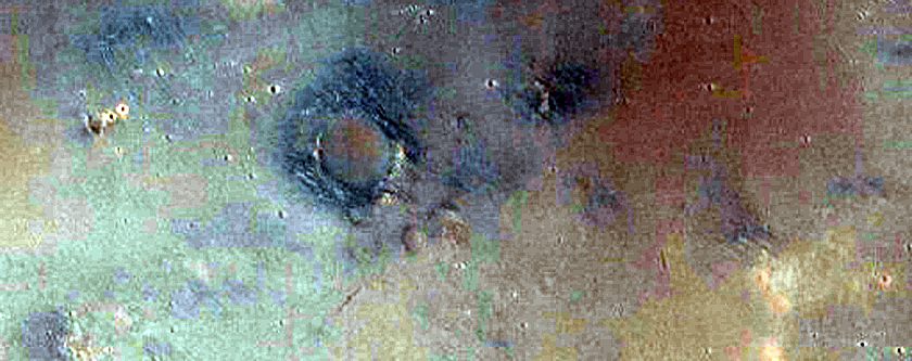 Partially Exhumed Crater