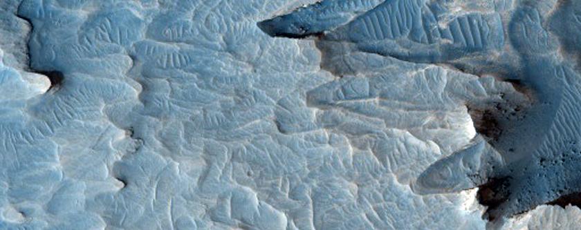 Putative Sulfates in Valley in Meridiani Region