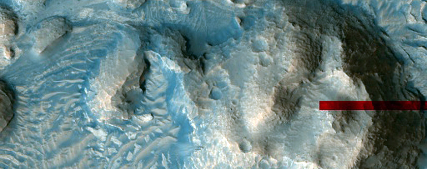 Light-Toned Layers in Crater South of Crommelin Crater