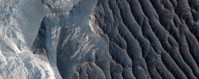 Light-Toned Layers in West Tithonium Chasma