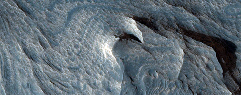 Layered Bedrock in Candor Chasma
