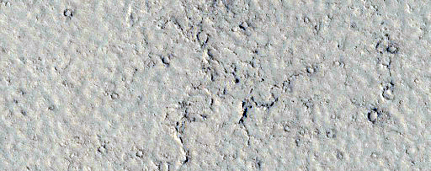 Loose Cluster of Zunil Crater Secondary Craters