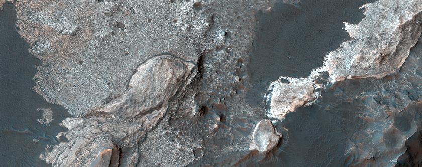 Estratos en el Cráter Eberswalde