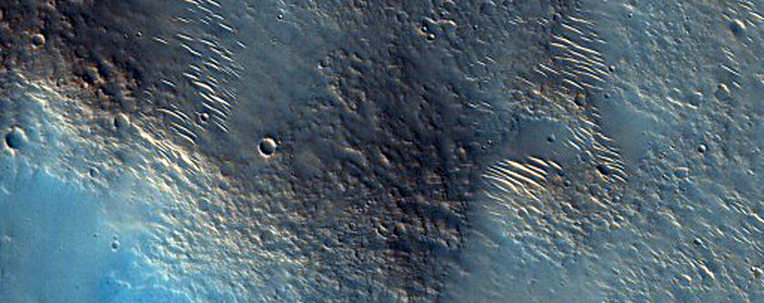 Punsk Crater in Chryse Planitia