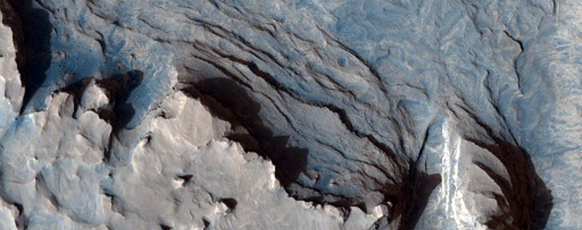 Curvilinear Ridge in Terra Meridiani