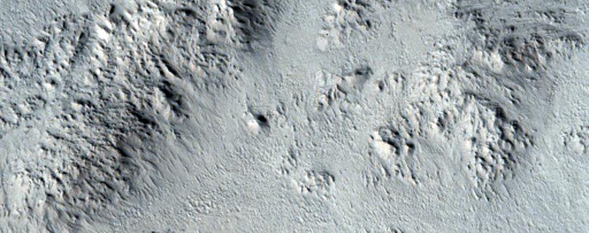 Zunil Crater Impact Flow Ejecta Margins