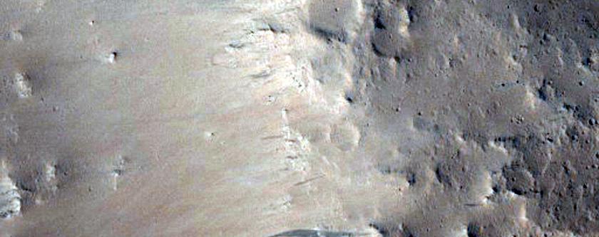 Breached Impact Crater in Elysium Planitia