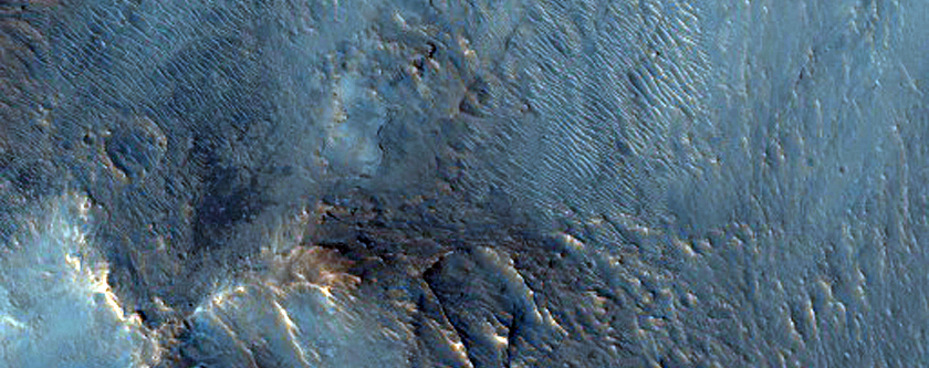 Knobby Materials on the Floor of Gangis Chasma