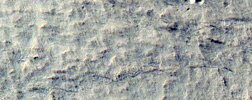 Fault in South Polar Layered Deposits