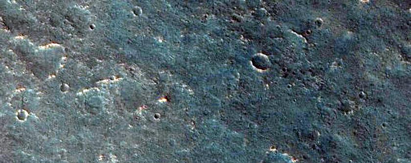 Proposed MSL Rover Landing Site Ellipse in Mawrth Vallis