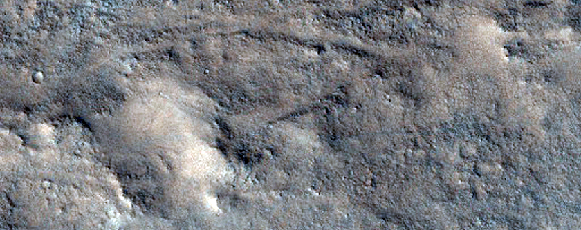 Landforms in Central Antoniadi Crater