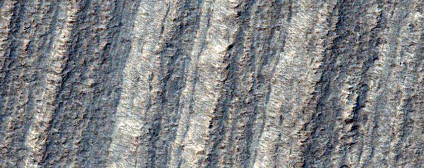 Fault in the South Polar Layered Deposits