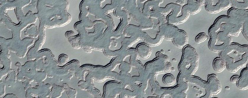 South Polar Autumn - Dark-Edged Mesas