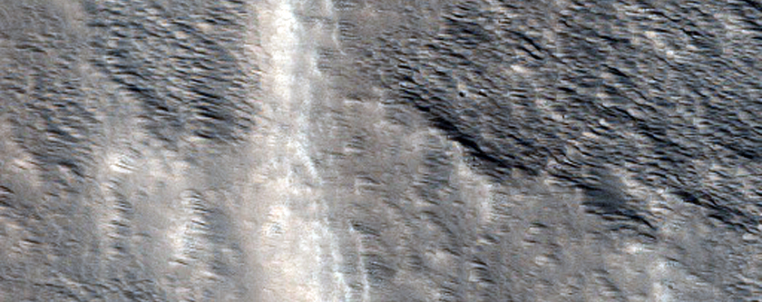 Apparent Fluvial Channel at the Summit of Hecates Tholus